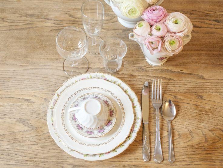 Location de vaisselle vintage pour mariage l Vaisselle Vintage - La Fiancée du Panda blog Mariage et Lifestyle
