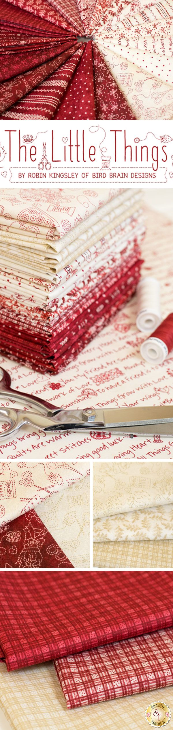 The Little Things by Robin Kingsley from Maywood Studio Fabrics is a beautiful collection available at Shabby Fabrics