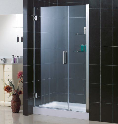 Dreamline unidoor frameless 46 47 inch adjustable shower - Wd40 on glass shower doors ...