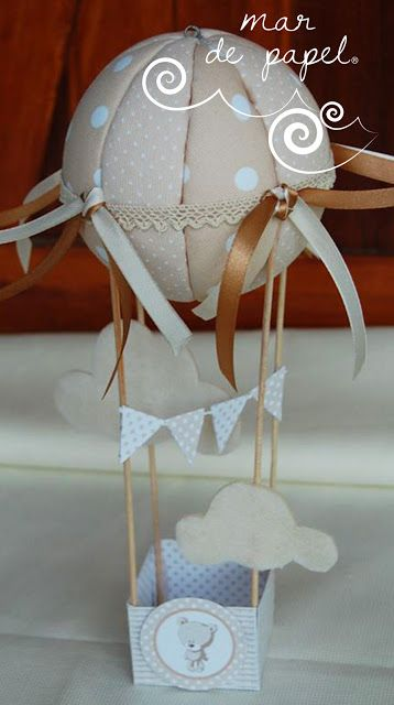 MAR DE PAPEL: Un globito en beige y camel para preparar la habit...