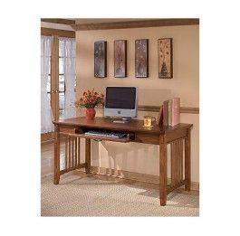 Cross Island Large Leg Desk - Medium Brown - Ashley Furniture Milan Direct