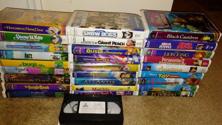 DISNEY VHS TAPES LOT OF 29 INC. COLLECTORS LION KING, BLACK CAULDRON,SNOW WHITE