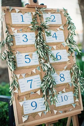 Unique Seating Chart Displays, Wedding Invitations Photos by Anna Roussos