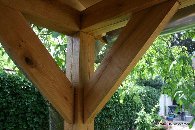 Luxe tuinhuis met veranda geheel maatwerk.  Duurzaam en onderhoudsarm.  www.vechtdalbouwsystemen.nl info@vechtdalbouwsystemen.nl tel: 06 46 58 27 97