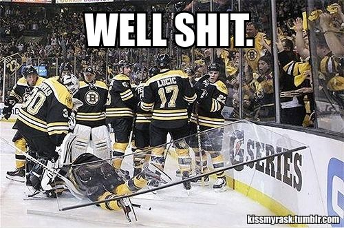Have to admit, that's pretty funny. I think of the guy who broke the glass in the penalty box when I see this!