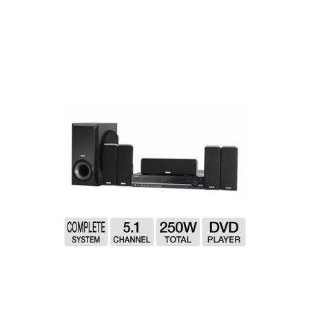 RCA Home Theater System DVD Player - 250W RMS, DVD+RW, CD-RW, AM/FM, Progressive Scan, Dolby Digital, 5.1 Channel, 250W