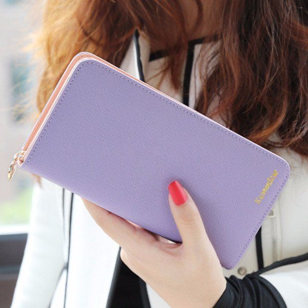 Fashionable Long Wallets for Women – The Real Nomad  gift for travel lovers   purple colour  www.therealnomad.com