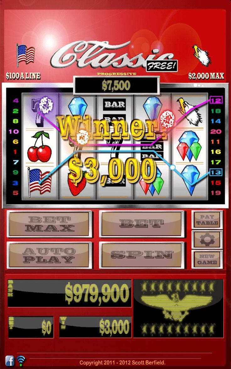 Classic Vegasstyle 20line slots for Android. Unlimited