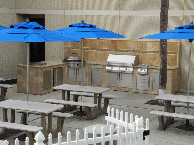 The ultimate outdoor kitchen at the Mayport Naval base in Mayport, FL.  Designed and constructed by Creative Design Space, Fleming Island FL.