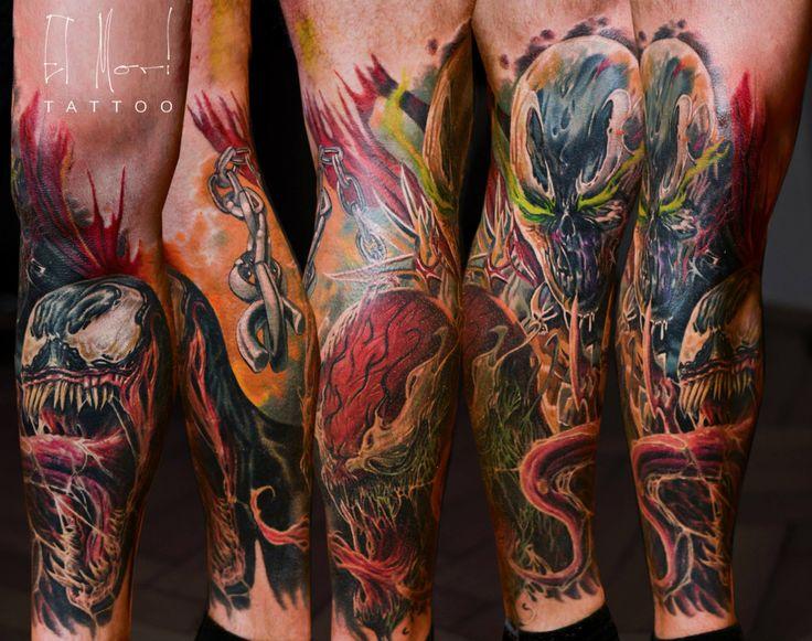 spawn venom carnage tattoo my tattoos pinterest tattoo and tatting. Black Bedroom Furniture Sets. Home Design Ideas