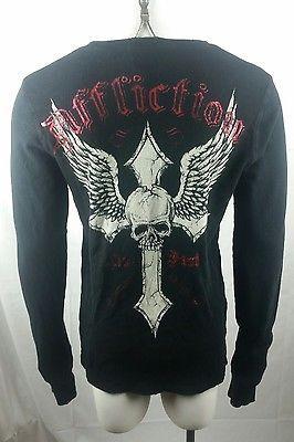 AFFLICTION Mens XL Long Sleeve Thermal Shirt