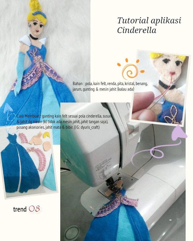 step by step cinderella applique