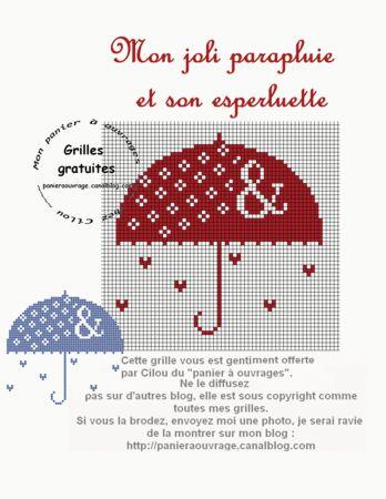 75 best mes grilles gratuites du panier ouvrages images on mon joli parapluie et son esperleuette ccuart Gallery