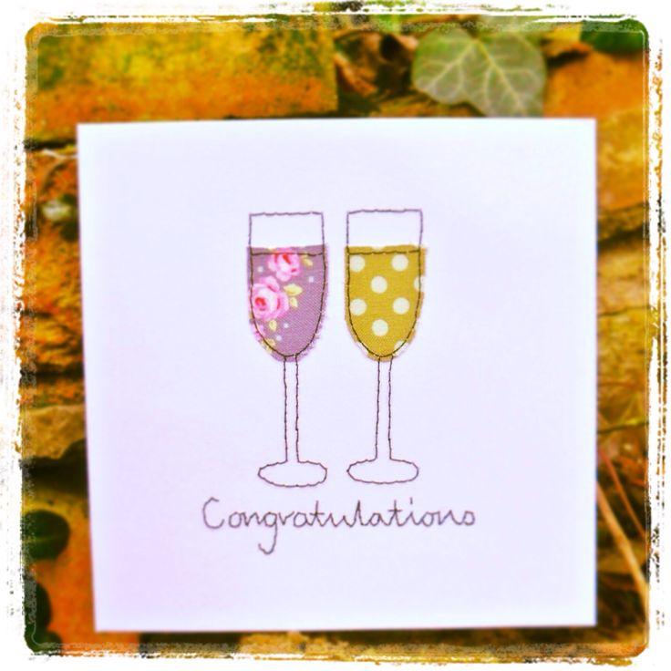 Congratulations....handmade greeting card priced at £2.30.