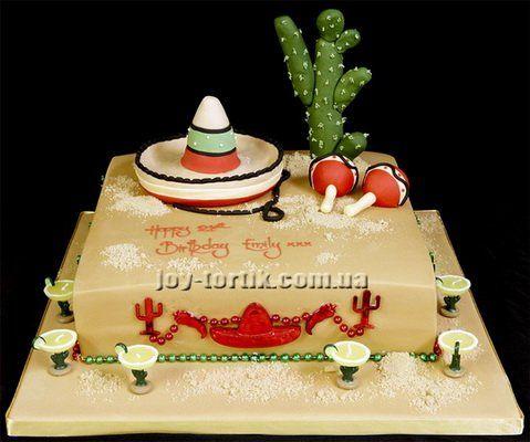 cake for mexican vacation | Торты на морскую тематику и тематику ...
