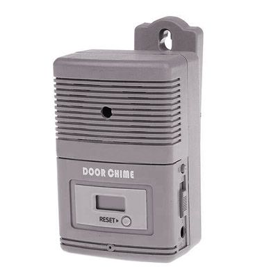 [$5.06] Light Sensitive and Motion Activated Visitor Door Chime with 0.7 inch LCD Counter (32-Melody/3xAA)