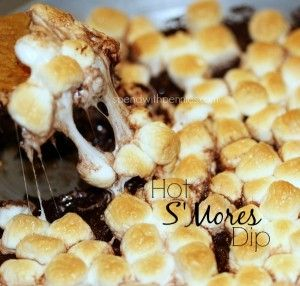 Hot S'Mores Dip This is super easy and delicious... my daughters LOVE it! Love it? Pin it to your DESSERT board to SAVE it! Follow Spend With Pennies on Pinterest for more great recipes! This is the simplest recipe that just takes a few minutes but it...