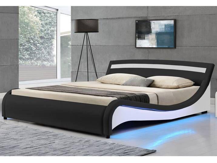 Artlife Polsterbett Malaga 140 X 200 Cm Mit Led Seitenteilen Schwarz Mit Bildern Bett Wohnen Doppelbetten