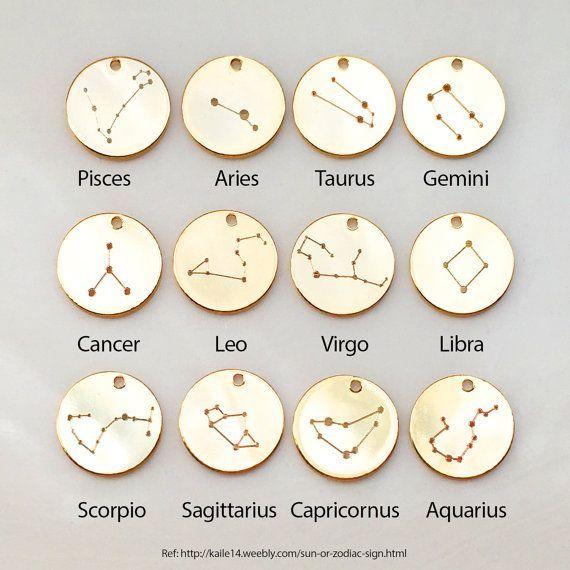 Zodiac Jewelry Constellation Necklace Birthday by MignonandMignon