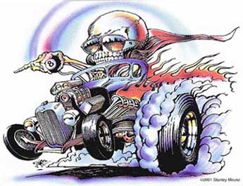 Hot Rod Artwork | Hot Rod Art Car Drawings by