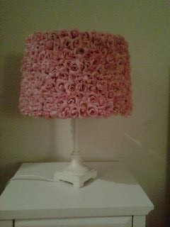 Re-decorating my daughters room. Handmade this Rose Lampshade. Inspired by Pottery Barn Kids & their high prices..... :-)