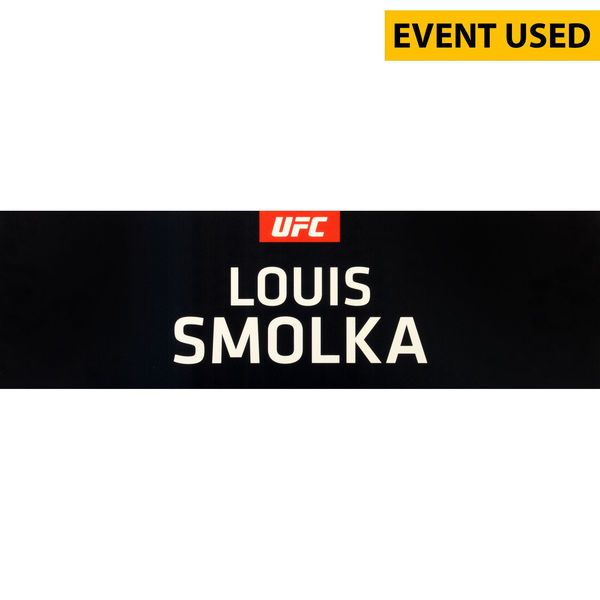 Louis Smolka Ultimate Fighting Championship Fanatics Authentic UFC 189 Event-Used Locker Room Nameplate - $49.99