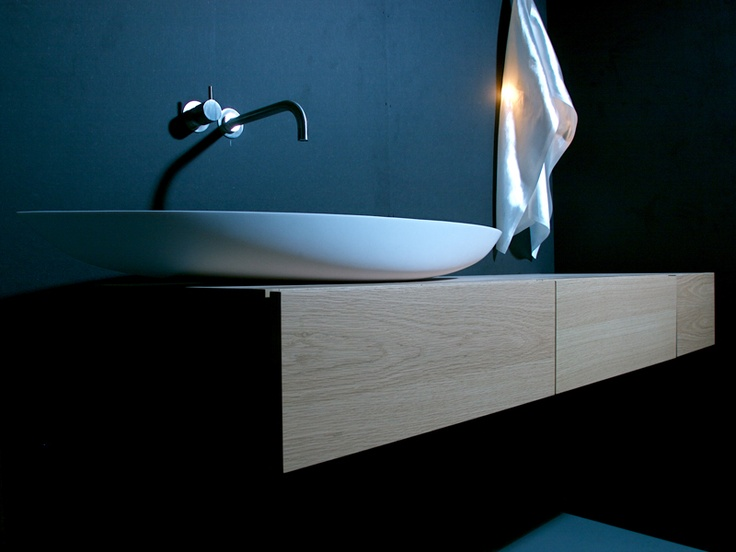 Elegant Low Countertop Bathroom Basin And Wall Hung Vanity Shelf With  Drawers   Marike   Solo