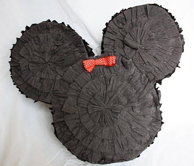 DIY Mickey Piñata using a Diaper box
