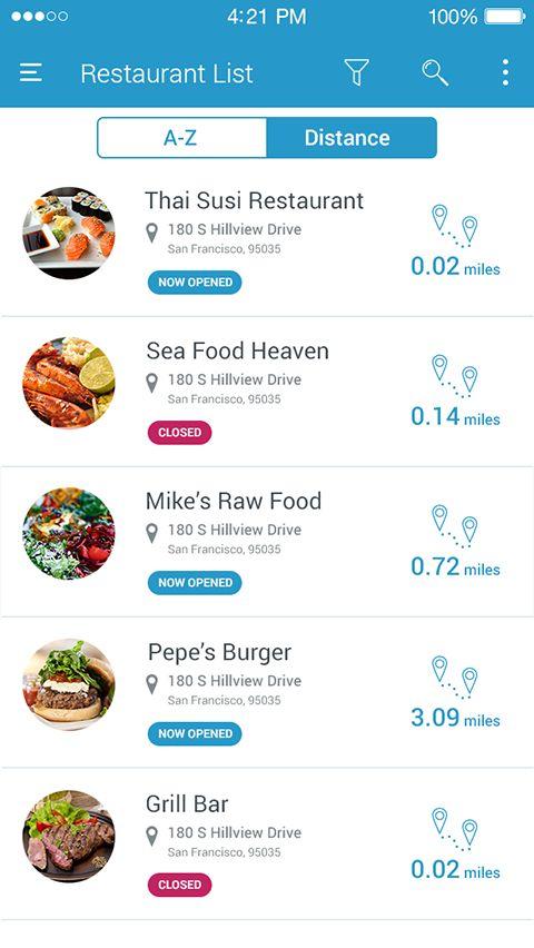 Restaurant app concept on Behance
