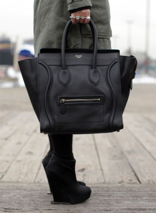 """This is a must have purse for me!      """"Push"""": Celine Bag. Plus the boots!"""