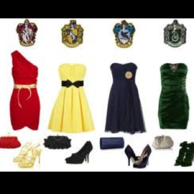Hogwarts Houses Inspired Outfits Harry Potter Pinterest