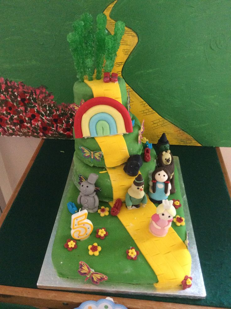 My wizard of oz cake for my lovely granddaughters 5th birthday