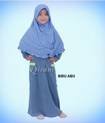 Beli Baju Dress Anak Qirani Kids QK 71 Biru Abu dari Aprilia Wati agenbajumuslim - Sidoarjo hanya di Bukalapak