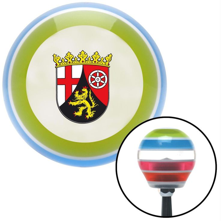 Rhineland Palatinate Coat of Arms Stripe Shift Knob with M16 x 15 Insert