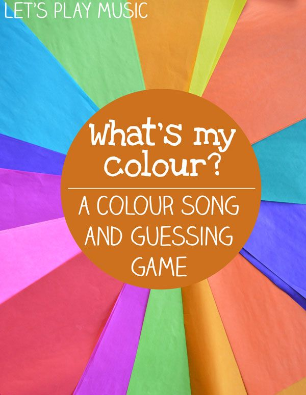 colour song and guessing game for kids - Colour Games For Preschoolers