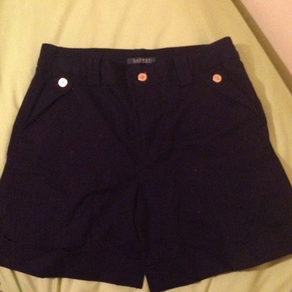 Navy Blue Ralph Lauren nautical shorts These are my favorite pair of shorts! 5 inch inseam,.They sit just below the naval and look perfectly polished with a crisp white oxford tucked in! I hope someone loves them as much as I have! Ralph Lauren Shorts