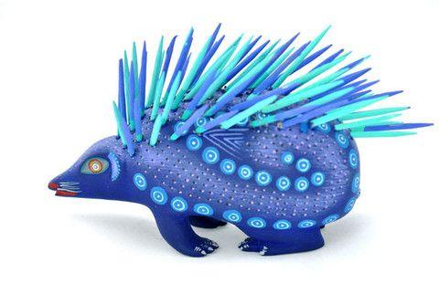 Alebrije - Porcupine (Blue)