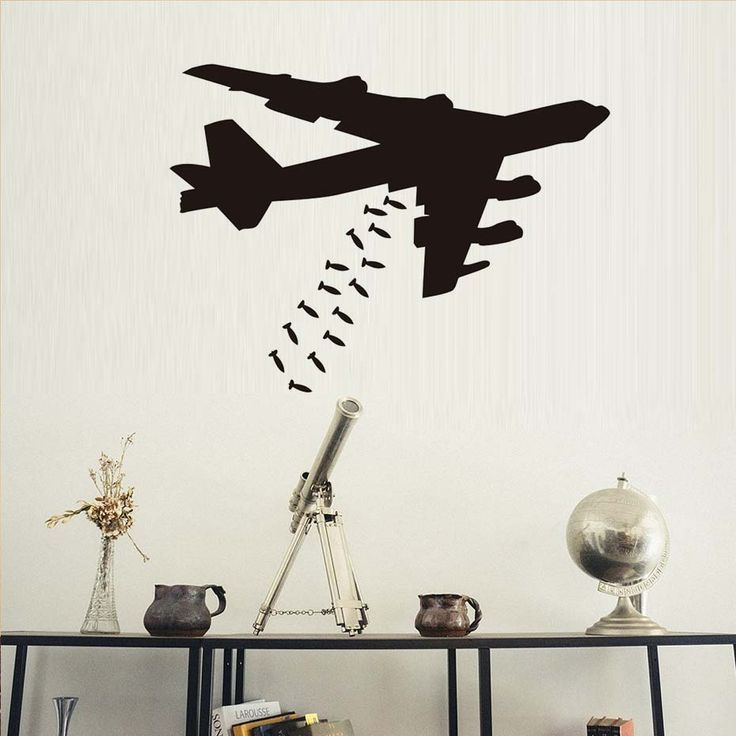 Free Shipping Gaming Boys Room Decal Gaming Airplane Bedroom Wall Sticker Teenboys Playroom DIY Vinyl Murals Decoration #Affiliate