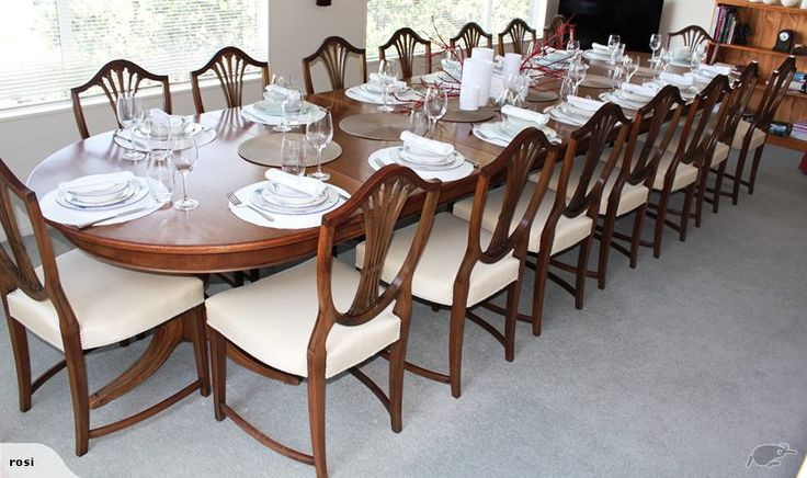 Walnut Banquet Table and chairs | Trade Me $5500.00 from the Swiss Embassy Wellington