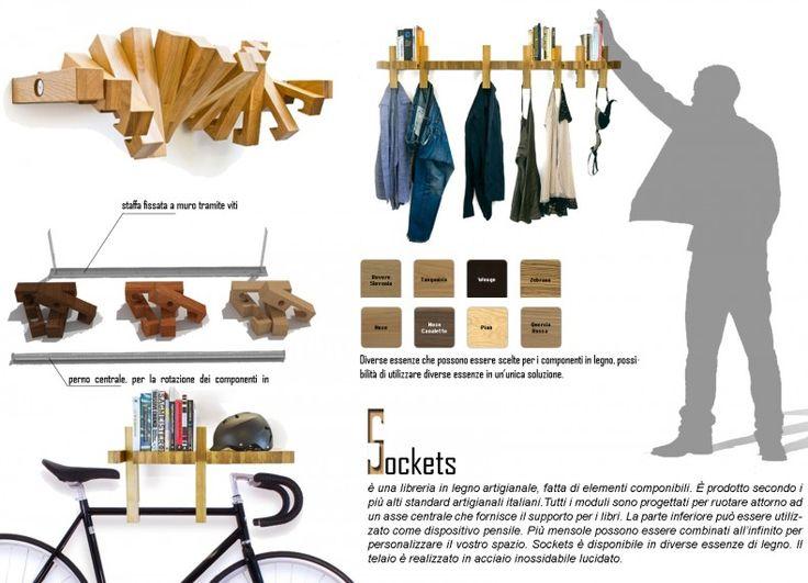 Formabilio - SOCKETS libreria / progetto inviato da Giuseppe Pezzella. Ti piace? VOTA L'IDEA QUI https://it.formabilio.com/progetto-concorso/sockets-13425