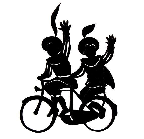 Pietjes op fiets