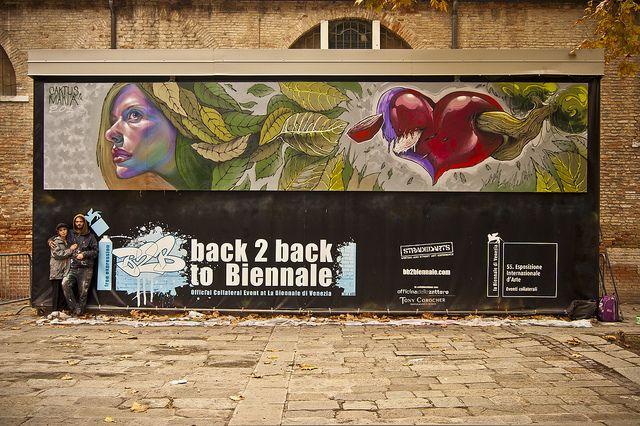 Caktus & Maria BACK 2 BACK TO BIENNALE - FREE EXPRESSION >>> Evento ufficiale collaterale della 55ª Biennale di Venezia
