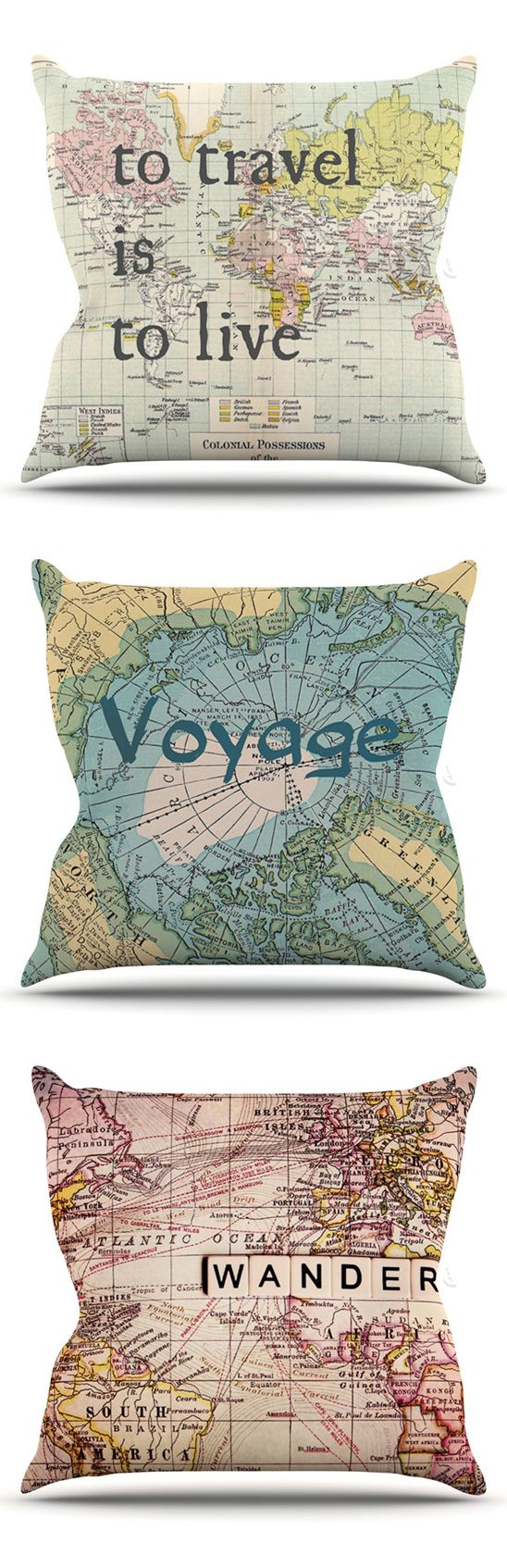 To travel is to live   Voyage   Wander - pillows