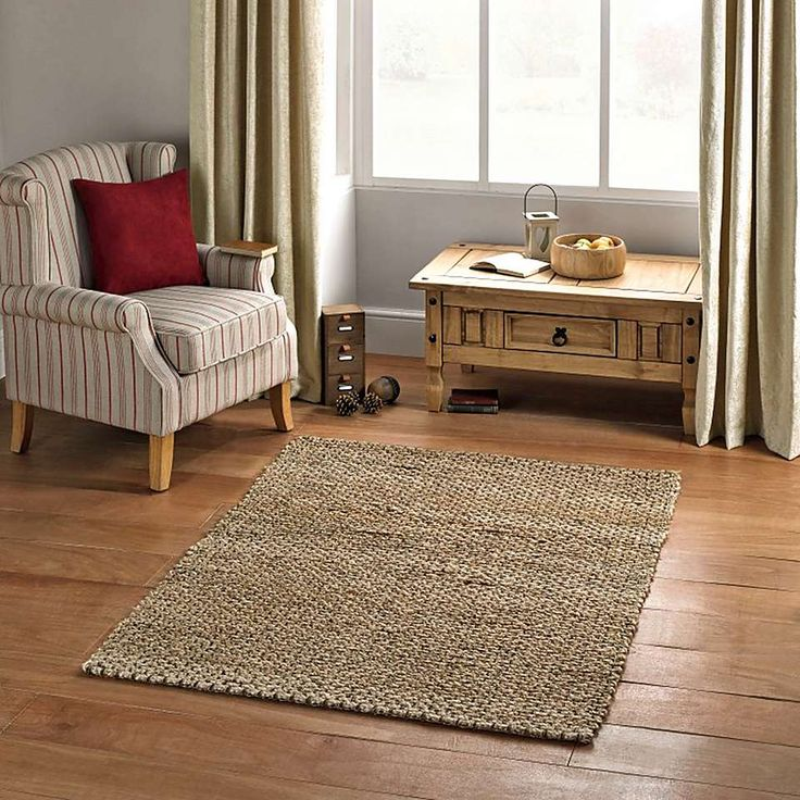 Dunelm Durable Natural Chunky Jute Rug
