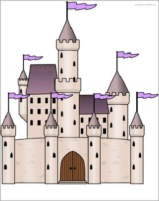 Giant fairytale castle picture for display (SB9376) - SparkleBox