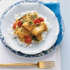 Inspired by the cooking of the Malabar coast, this fish curry is tremendously flavorful, thanks to tamarind, coconut, garlic and ginger. Kingfish (a t...