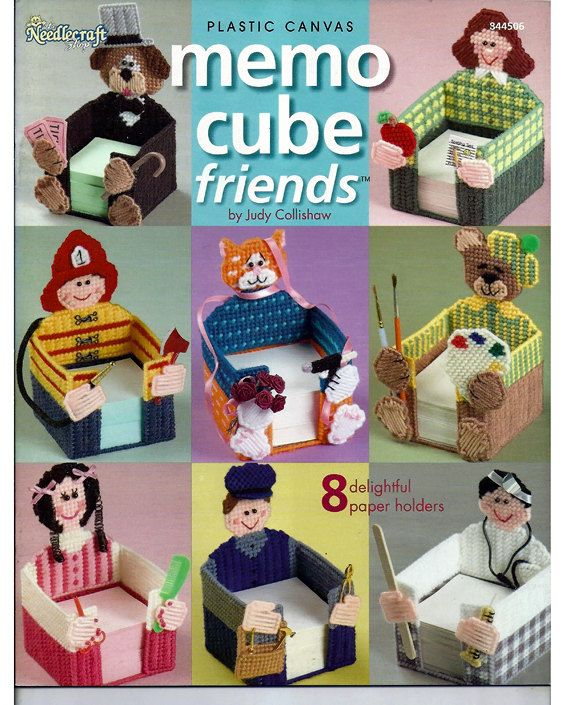 Memo Cube Friends Plastic Canvas Pattern Book by grammysyarngarden