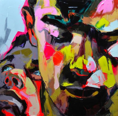 Oil painting by Francoise Nielly, a France artist.