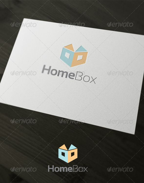 Home Box by stephanmalt The Pack included: EPS , jpg CMYK 100 vector easy to edit color / text Free font used: http://www.dafont.com/sansation. font hel