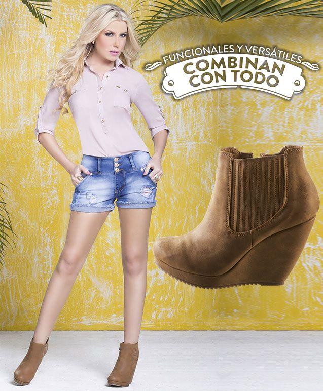 Los botines al tobillo son un accesorio principal ya que son versátiles, cómodos y adecuados para cualquier mujer. #yovistoTyTjeans Encuentralos